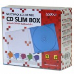 Box na 1 ks CD, slim, color mix LOGO / 10ks