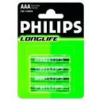 Phillips Long life baterka AAA R03-P4/01B